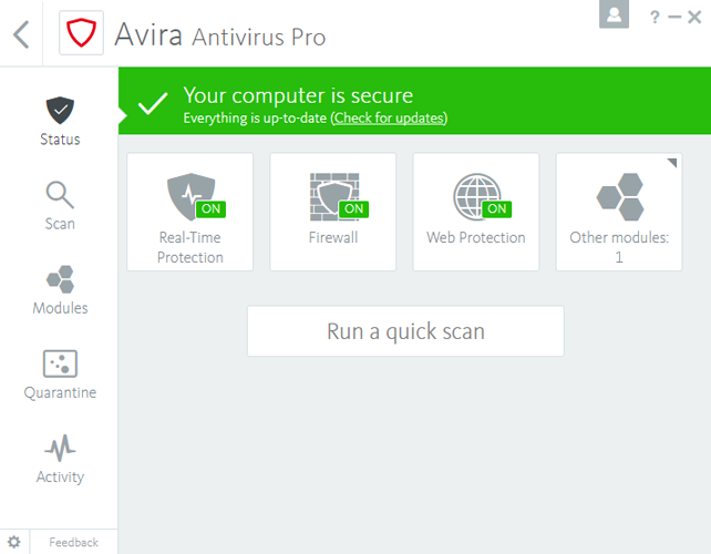 Avira Antivirus Pro 2018 15.0.32.24 Crack For Win,Mac & Aandroid