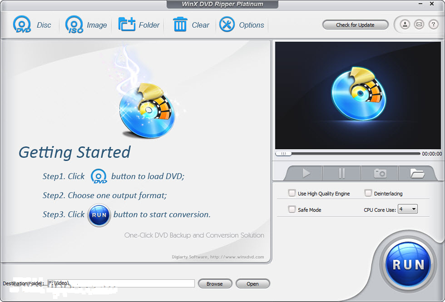 WinX DVD Ripper Platinum 8.7.0 Crack Key For [Mac + Win]