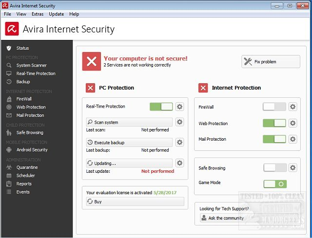 Avira Internet Security Pro 2018 15.0.34.17 License Key with Crack